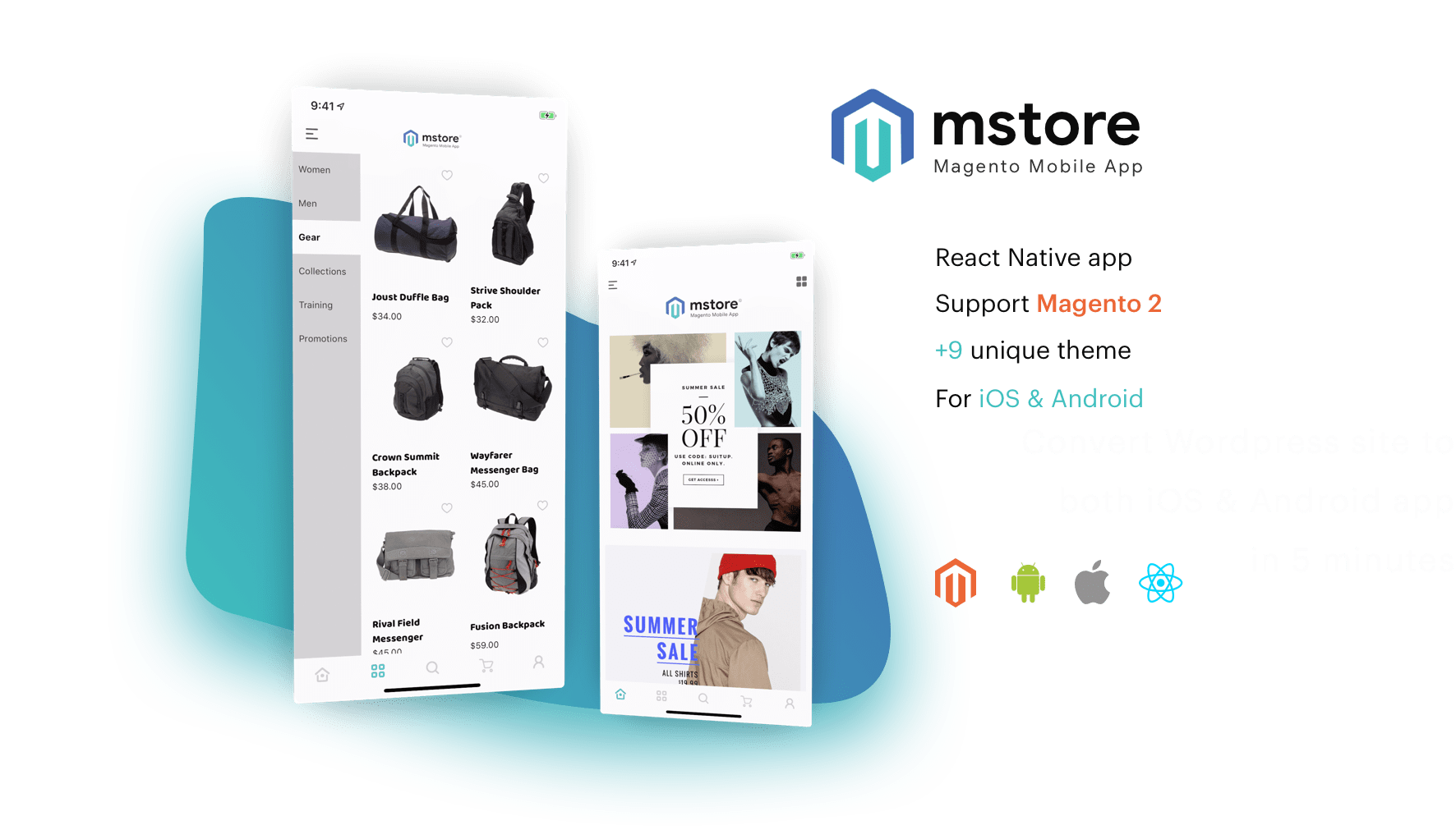 MStore Magento the complete mobile commerce app by React native